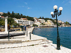 Old-greek-Kassiopi-village-in-Corfu-island